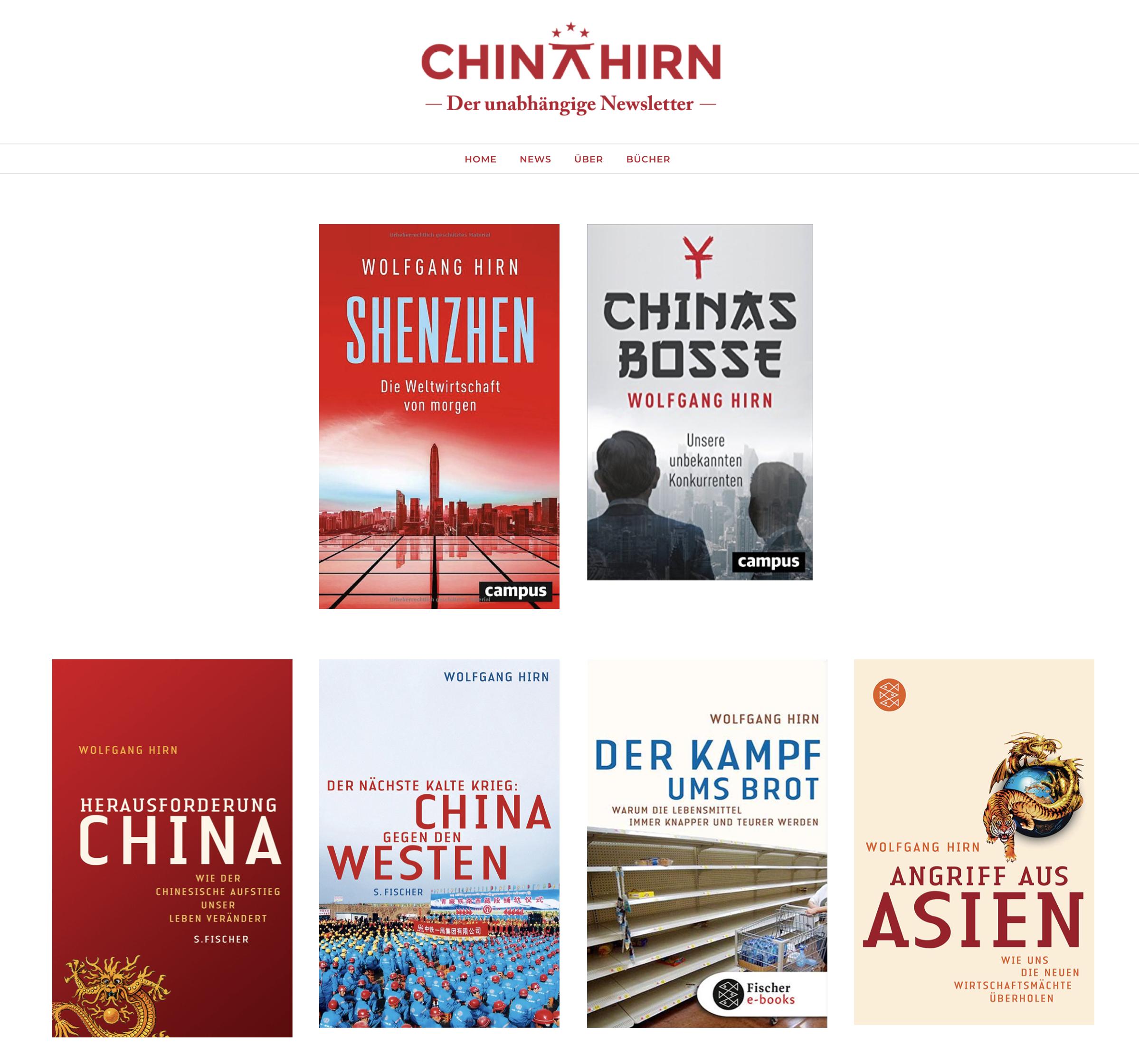 CHINAHIRN der unabhaengige Newsletter publikationen chinas bosse