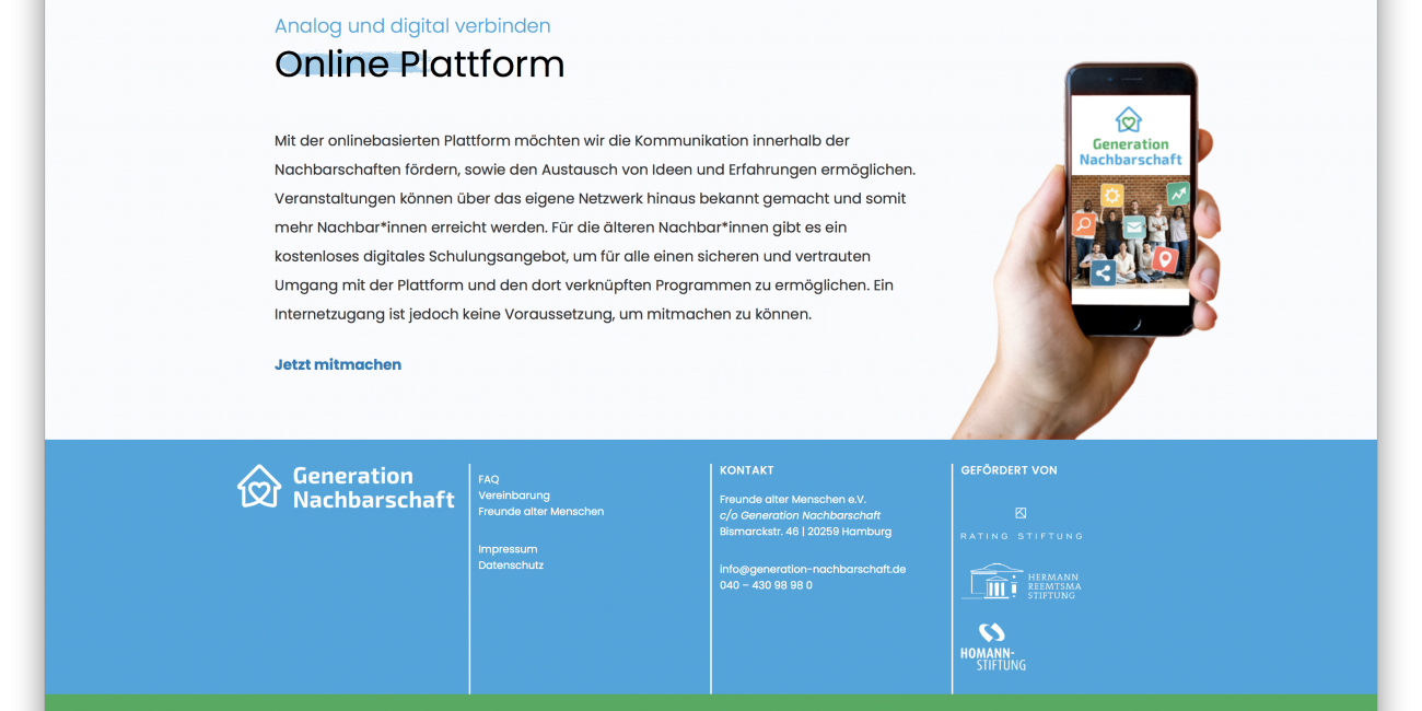 Generation Nachbarschaft social media netzwerk wordpress.png online platform