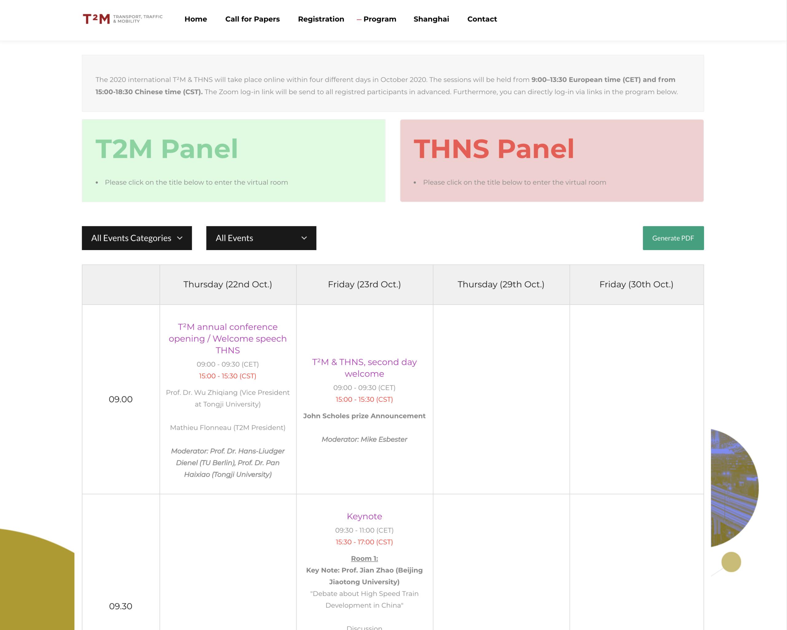 T2M Conference shanghai berlin program